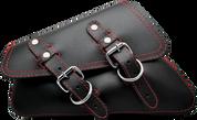 04-UP Harley-Davidson Sportster  Nightster 1200   Forty-Eight 72    Roadster Left Side Saddle Bag Swingarm Bag Black w/ Red Thread