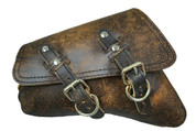 04-UP Harley-Davidson Sportster  Nightster 1200   Forty-Eight 72    Roadster Left Side Saddle Bag Swingarm Bag - Rustic Brown