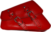 04-UP Harley-Davidson Sportster  Nightster 1200   Forty-Eight 72    Roadster Left Side Saddle Bag Swingarm Bag - Red Leather