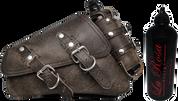 04-UP Harley-Davidson Sportster  Nightster 1200   Forty-Eight 72    Roadster Left Side Saddle Bag Swingarm Bag Rustic Black Spare Fuel Bottle