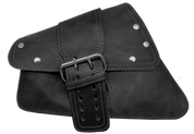 04-UP Harley-Davidson Sportster  Nightster 1200   Forty-Eight 72    Roadster Left Side Saddle Bag Swingarm Bag Rustic Black Single Wide Strap Rivet