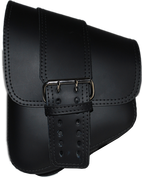 La Rosa Harley-Davidson All Softail Models Left Side Solo Saddle Bag   Swingarm Bag Black Front Wide Strap