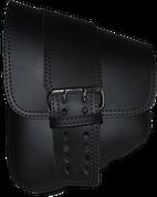 La Rosa Harley-Davidson All Softail Models Left Side Solo Saddle Bag   Swingarm Bag Black Front Wide Strap