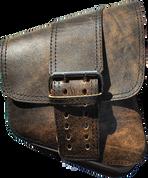 La Rosa Harley-Davidson All Softail Models Right Side Solo Saddle Bag   Swingarm Bag Rustic Brown Front Wide Strap
