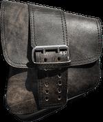 La Rosa Harley-Davidson All Softail Models Left Side Solo Saddle Bag   Swingarm Bag Rustic Black Front Wide Strap