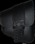 La Rosa Harley-Davidson All Softail Models Right Side Saddle Bag   Swingarm Bag Black Front Wide Strap