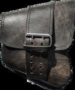 La Rosa Harley-Davidson All Softail Models Right Side Solo Saddle Bag   Swingarm Bag Rustic Black Front Wide Strap
