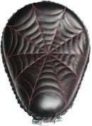 "13"" Classic Solo Seat -  Black Spiderweb Tuck / Red Thread"