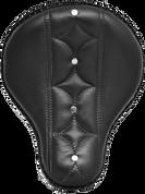 "16"" Cross Bones Solo Seat Black Diamond & Button Tuk"