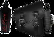 All Softail Models Vintage Right Side Solo Saddle Bag Black Spare Fuel Bottle Holder