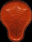 "16"" Cross Bones Solo Seat Shedron Spider Web Tuck"