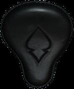 """16"""" Cross Bones Solo Seat Black / Black Inlay Spade"""