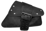 04-UP Harley-Davidson Sportster Nightster 1200   Forty-Eight 72 Right Side Saddle Bag Swingarm Bag Rustic Black Single Wide Strap Rivet