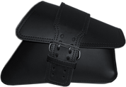 04-UP Harley-Davidson Sportster Nightster 1200   Forty-Eight 72 Roadster Right Side Solo Saddle Bag Swingarm Bag Plain Black Single Wide Strap