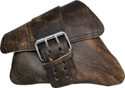 04-UP Harley-Davidson Sportster Nightster 1200   Forty-Eight 72 Left Side Saddle Bag Swingarm Bag Rustic Brown Single Wide Strap