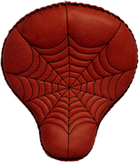 "17"" Classic Solo Seat - Shedron Spider Web Tuck"