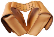 Universal Throw Over Saddle Bag Set Tan Leather