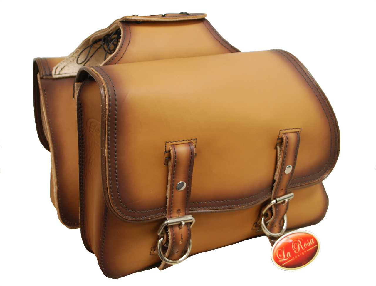 3896cce27 Universal Throw Over Saddle Bag Set Antique Tan Leather. Price: $319.99.  Image 1