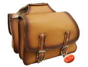 Universal Throw Over Saddle Bag Set Antique Tan Leather
