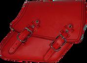 04-UP Harley-Davidson Dyna Wide Glide FXR Right Side Solo Saddle Bag Red Plain