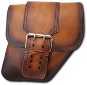 04-UP Harley-Davidson Dyna Wide Glide FXR Right Side Solo Saddle Bag Antique Tan with Wide Strap