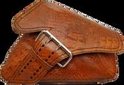 04-UP Harley-Davidson Sportster Right Side Saddle Bag LA FONDINA - Brown Alligator
