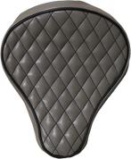 "16"" baSICK Leather Diamond Tuck Solo Seat - Gray with Black ThreadLa Rosa Harley Chopper Bobber Custom"