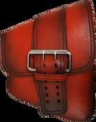 La Rosa Harley-Davidson All Softail Models Right Side Saddle Bag  Swingarm Bag Antique Shedron Front Wide Strap