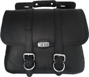 Black Faux Leather Luggage