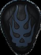"La Rosa Harley-Davidson  Sportster/Softail/Dyna/Touring Bikes  Chopper Bobber Custom 13"" Classic Solo Seat - Black Flame Skull Inlay Blue"
