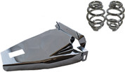"1984-1999 Harley-Davidson Softail Solo Seat Deluxe Conversion kit - 3"" Barrel Springs Chrome Cover&Bracket"