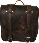 All HD Softails claSICK Leather Postal Bag - Rustic Brown