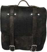 All HD Softails claSICK Leather Postal Bag - Rustic Black