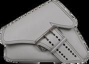 04-UP Harley-Davidson Sportster Left Side Saddle Bag LA FONDINA - White