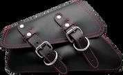04-UP Harley-Davidson Sportster  Nightster 1200   Forty-Eight 72 Roadster Left Side Saddle Bag Swingarm Bag Black w/ Pink Thread