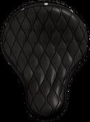 "La Rosa Harley Chopper Bobber Custom 16"" baSICK Solo Seat Black Hourglass Tuk N Roll with Rivets"