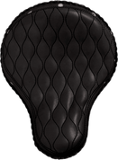 "La Rosa Harley Chopper Bobber Custom 16"" Classic Solo Seat Black Hourglass Tuk N Roll with Rivets"