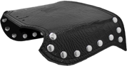 All H-D Softails Heat Deflector / Saddle Shield - Black Alligator w/ Rivets