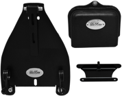 """All 2000-UP Harley-Davidson Softail Solo Seat Deluxe Conversion kit - Blacked Out 2"""" Scissor Springs"""