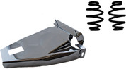 "1984-1999Harley-Davidson Softail Solo Seat Deluxe Conversion kit - 3"" Blacked Out Barrel Springs Chrome Cover&Bracket"