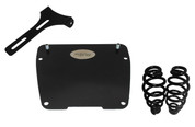 "All Harley-Davidson Dyna Models Solo Seat Mounting Kit with 5"" Blacked Out Barrel Springs"