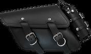 04-UP Harley Davidson Sportster   Nightster 1200 Forty-Eight 72 All H-D XL Left Side Black Leather Bolt-On Saddle Bag Swingarm Bag with Spare Fuel Bottle Holder