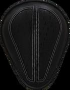 "La Rosa Harley-Davidson Sportster/Softail/Dyna/Touring BikesChopper Bobber 13"" baSICK Solo Seat Black with Black Alligator Inlay"