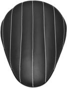 "La Rosa Harley-Davidson Sportster/Softail/Dyna/Touring Bikes Chopper Bobber 13"" Eliminator Solo Seat Black Tuk N Roll - White Thread"