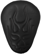 "La Rosa Harley-Davidson Sportster/Softail/Dyna/Touring Bikes CHOPPER BOBBER 13"" ELIMINATOR SOLO SEAT BLACK FLAME SKULL"