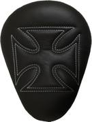 "La Rosa Harley-Davidson Sportster/Softail/Dyna/Touring Bikes Chopper Bobber 13"" Eliminator Solo Seat Black Cross with White Stitches"