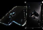 Universal Black Powder Coated Vertical Side Mount License Plate Frame - Ace of Spades