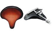 La Rosa Harley-Davidson Tractor Seat w/ Pogo Stick - Antique Shedron Leather