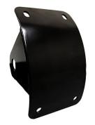 Black Powder Coated Curved Side Mount License Plate Holder for Harley Davidson Chopper Bobber Custom Motorcycles