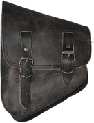 Harley Davidson V Rod Left Side Solo Saddle Bag - Rustic Black